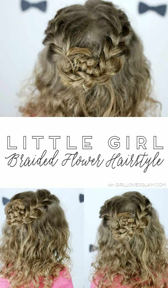 Little Girl Braided Flower Hairstyle on www.girllovesglam.com