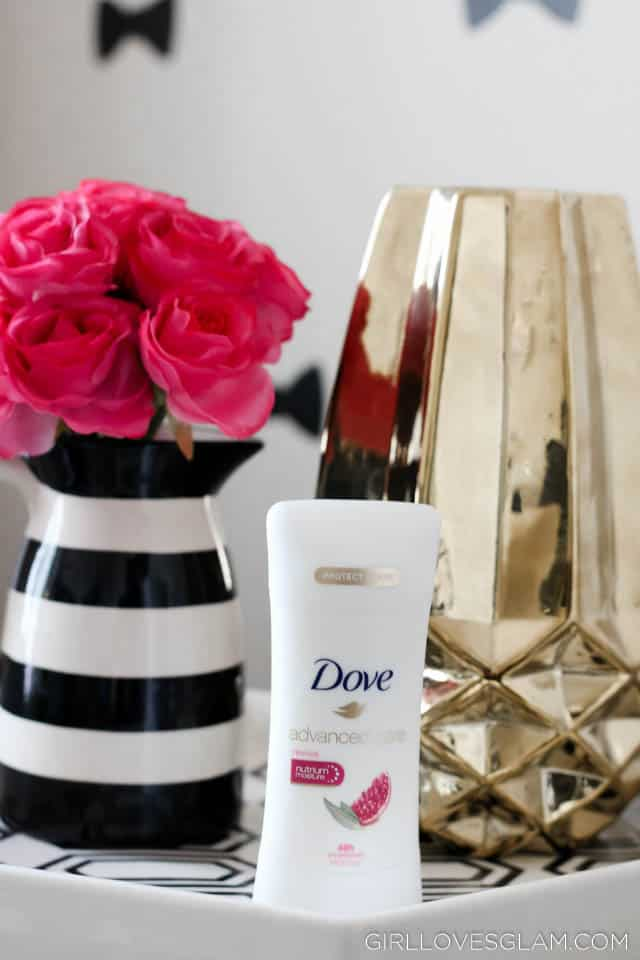 Dove Advanced Care Deodorant on www.girllovesglam.com