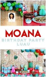 Moana Birthday Party Luau on www.girllovesglam.com