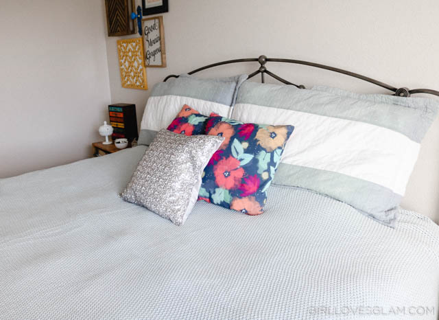 Anne Selke Sequin Pillow on www.girllovesglam.com