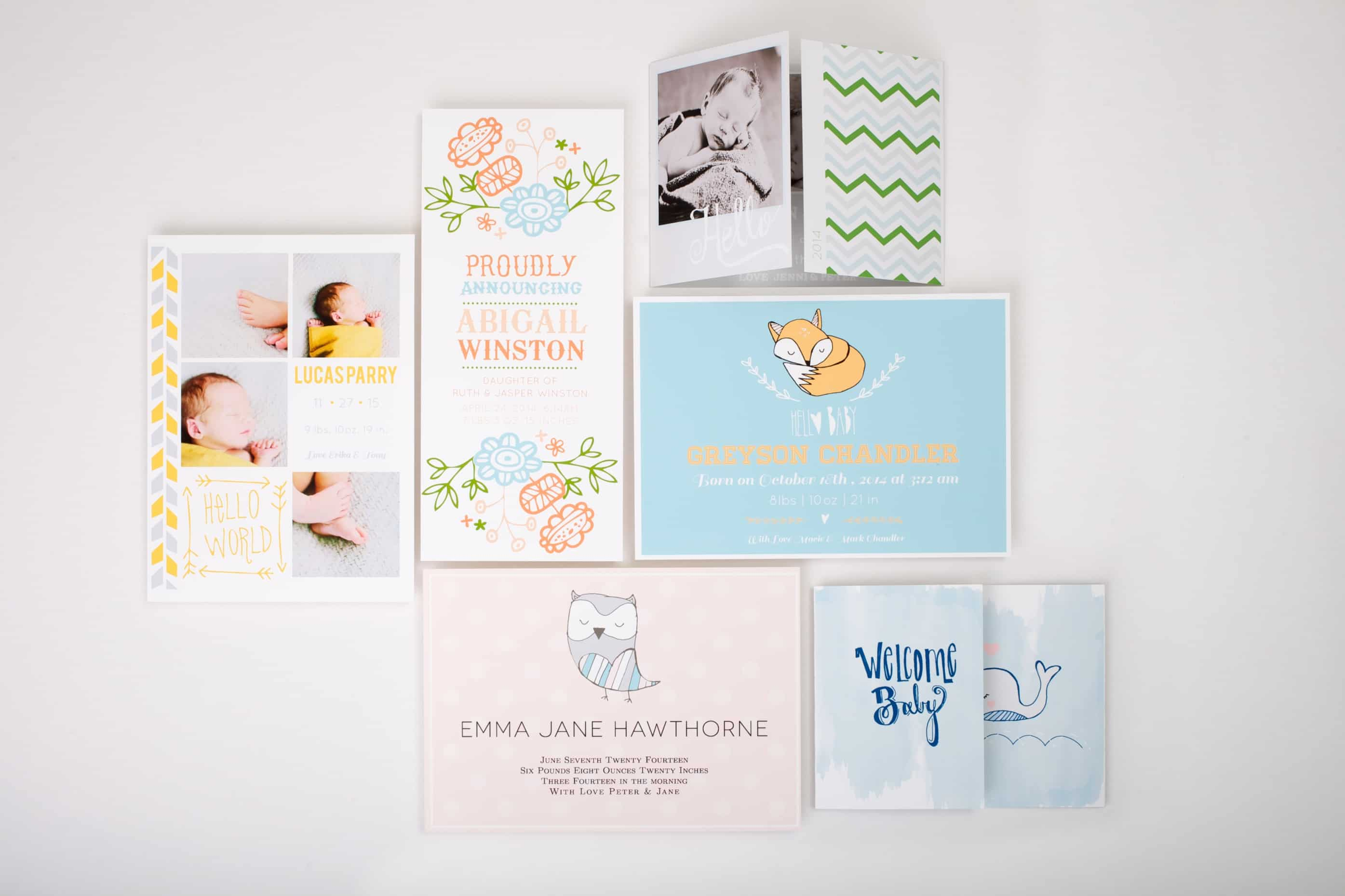 Baby Announcements from Basic Invite on www.girllovesglam.com