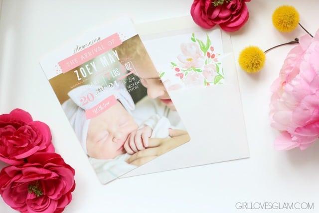Basic Invite Birth Annoucement on www.girllovesglam.com