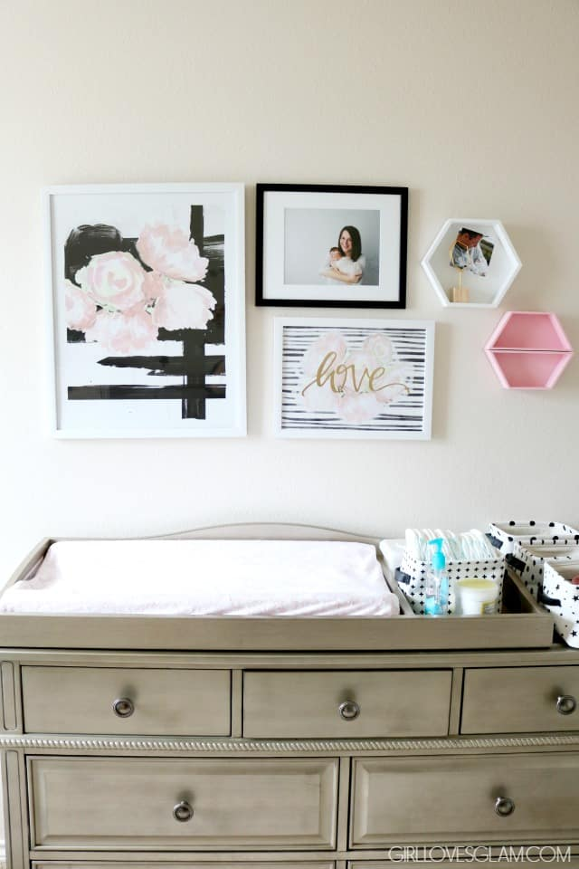 Changing Table Decor on www.girllovesglam.com