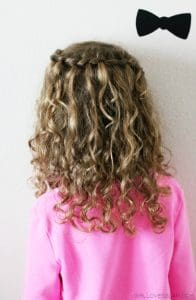 Curly Hair Waterfall Braid on www.girllovesglam.com