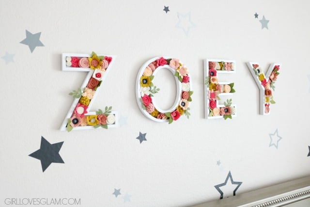 Floral Letters on www.girllovesglam.com