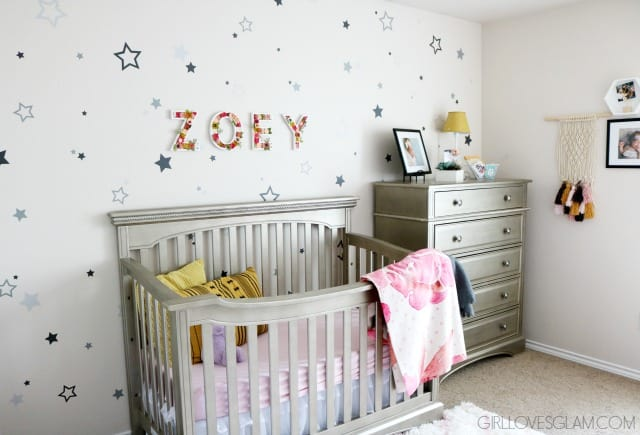 Star Wall Nursery Design on www.girllovesglam.com