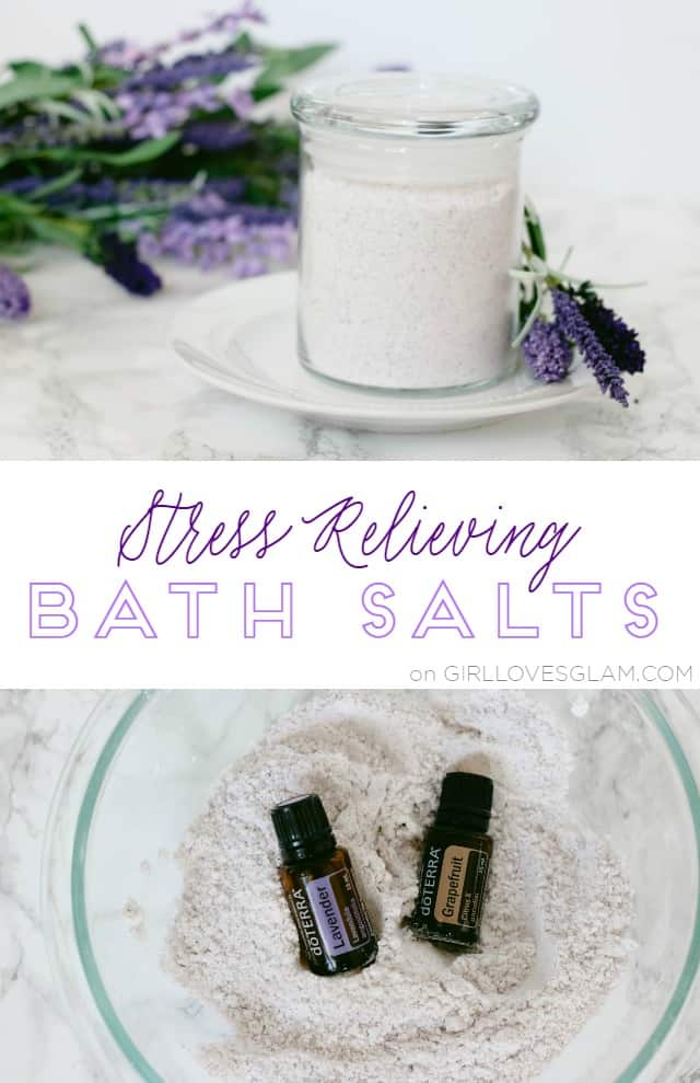 Stress Relieving Bath Salts on www.girllovesglam.com