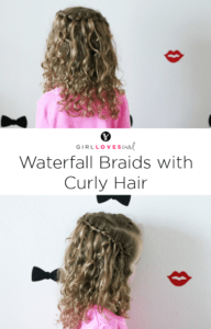 Waterfall Braids with Curly Hair