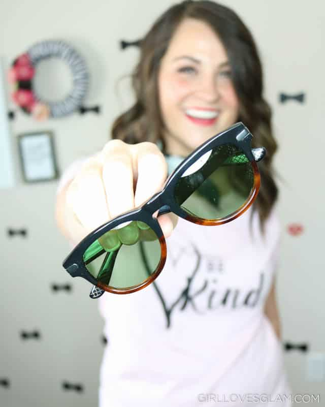 Be Kind Shirt and Luxomo Sunglasses on www.girllovesglam.com
