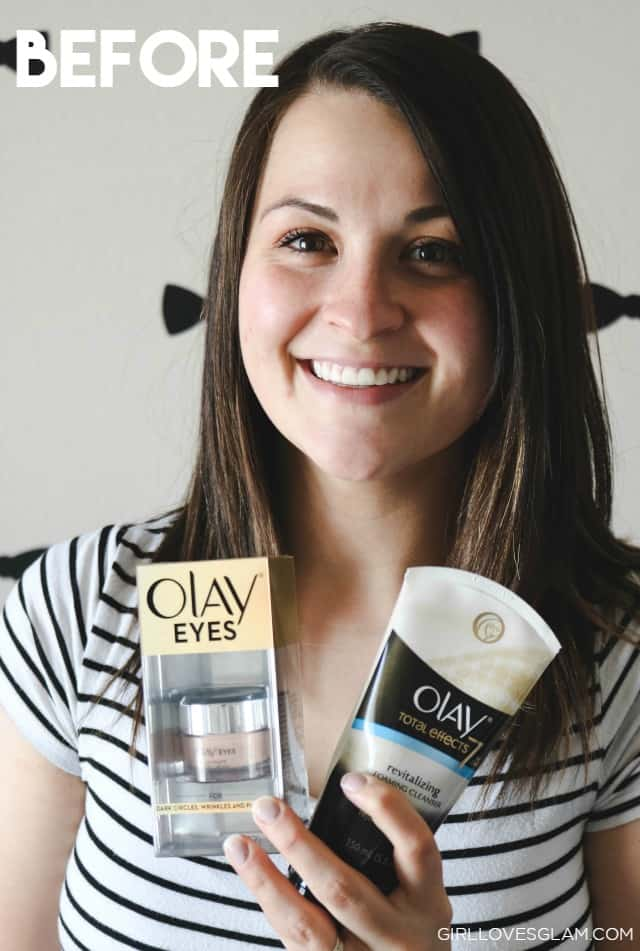 Before Olay Skin Study on www.girllovesglam.com