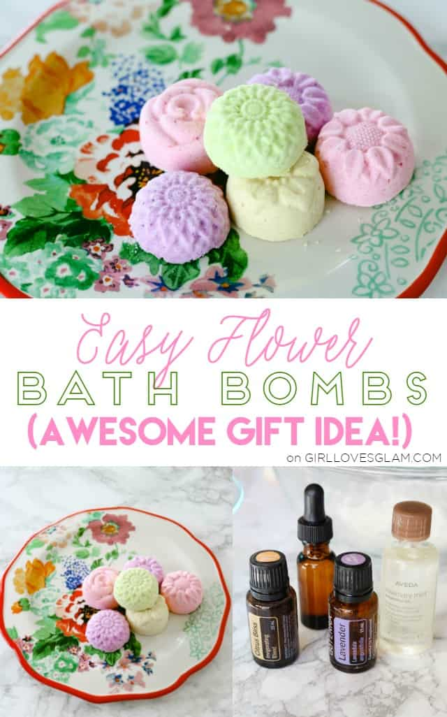 Easy Flower Bath Bombs that are an AWESOME gift idea! on www. girllovesglam.com
