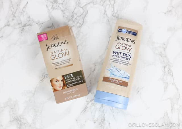 Jergens Natural Glow Products on www.girllovesglam.com