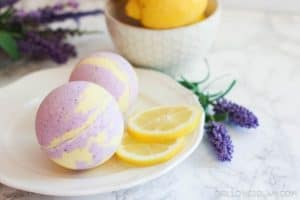 Lavender Lemon Bath Bomb on www.girllovesglam.com