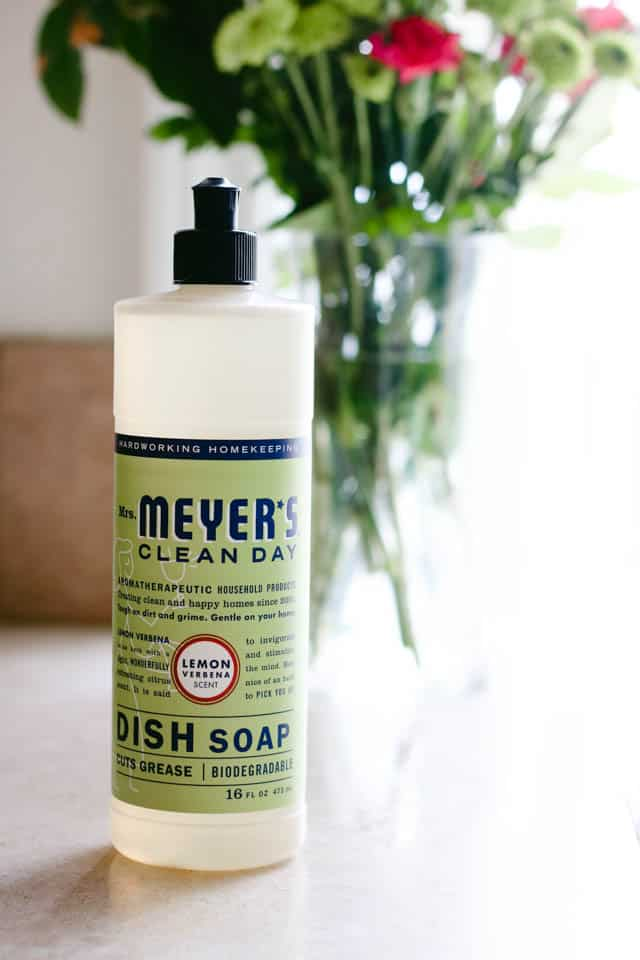Mrs. Meyers Clean Day Dish Soap on www.girllovesglam.com