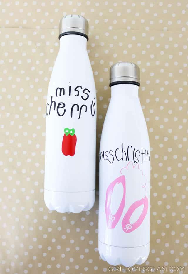 Handwritten Water Bottle Teacher Gift Idea - Girl Loves Glam