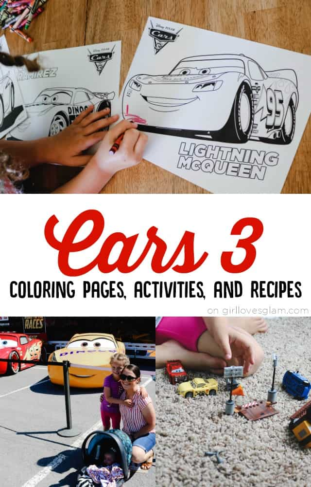 Cars 3 Coloring Pages Activities and Recipes on www.girllovesglam.com