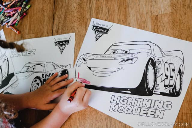 Cars 3 Coloring Pages on www.girllovesglam.com