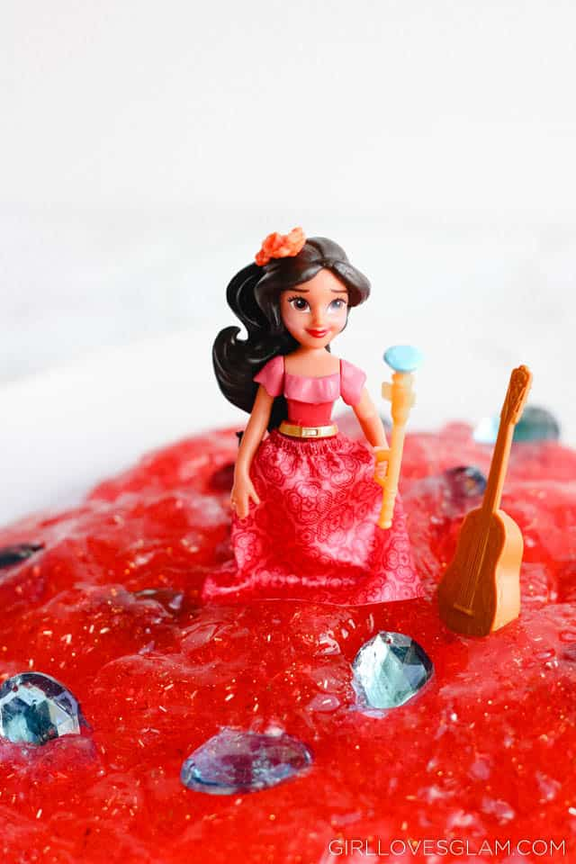 Elena of Avalor Slime Recipe on www.girllovesglam.com