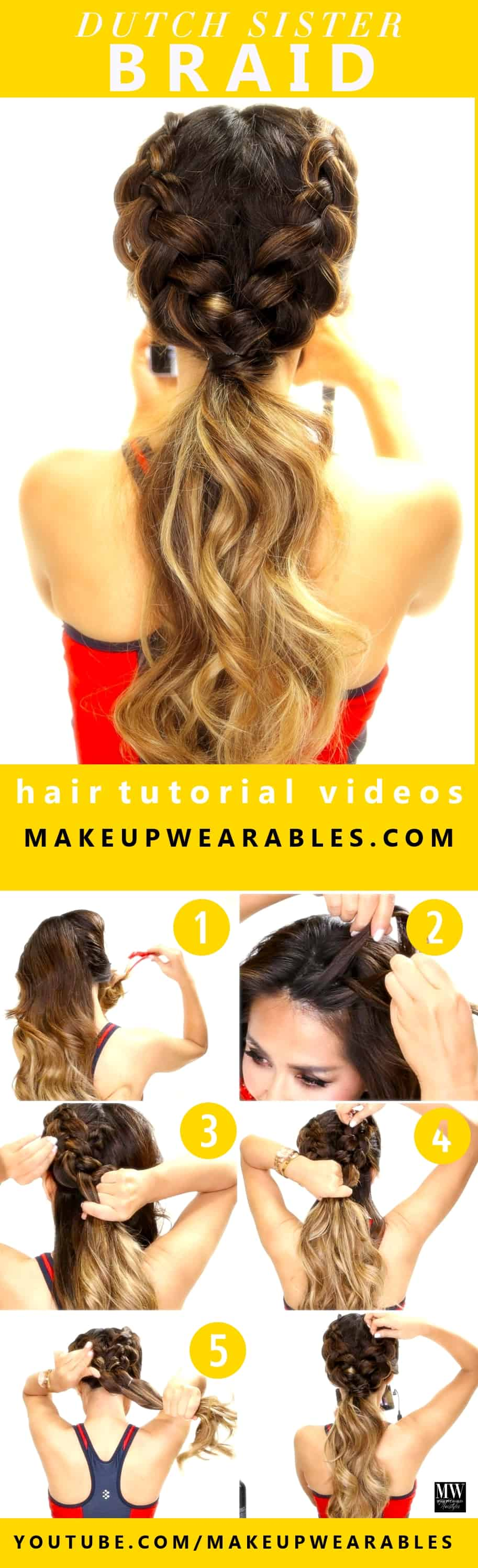 Double Dutch Braid Ponytail