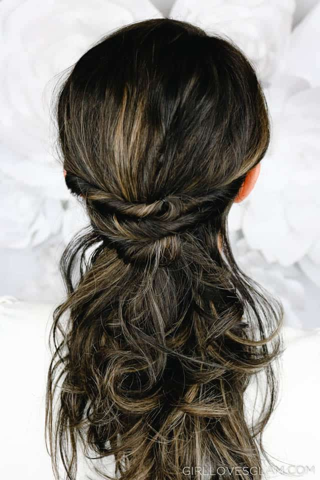 Fast Hairstyle Half Twisted on www.girllovesglam.com