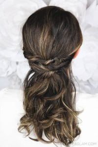 Beautiful Curly Hairstyle Fast and Easy on www.girllovesglam.com