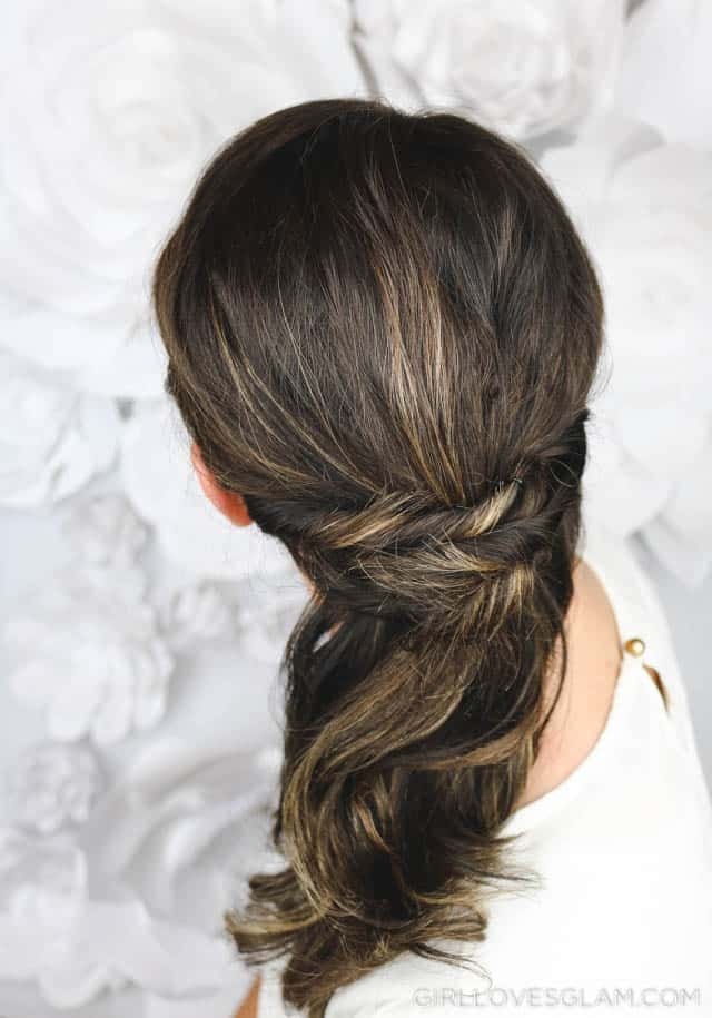 Simple, Beautiful Half Up Hairstyle on www.girllovesglam.com