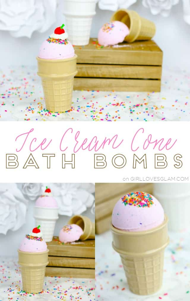 Ice Cream Cone Bath Bombs on www.girllovesglam.com