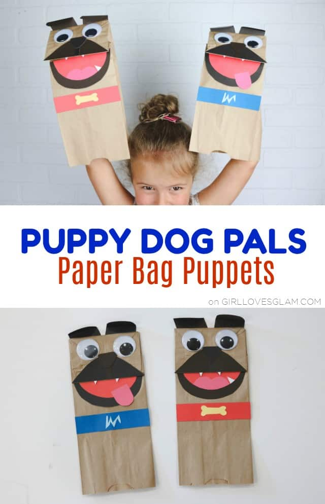 Puppy Dog Pals Paper Bag Puppets on www.girllovesglam.com
