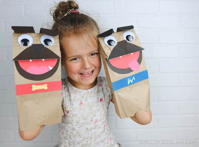 Puppy Dog Pals Puppet Kid Craft on www.girllovesglam.com