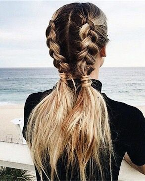 Swimming Dutch Braid Pigtails