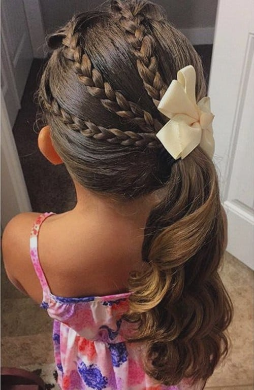 Triple Braid Side Ponytail