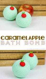 Caramel Apple Bath Bomb Recipe on www.girllovesglam.com #bathbomb #recipe
