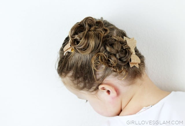 Braided Twist Bun Little Girl Hairstyle