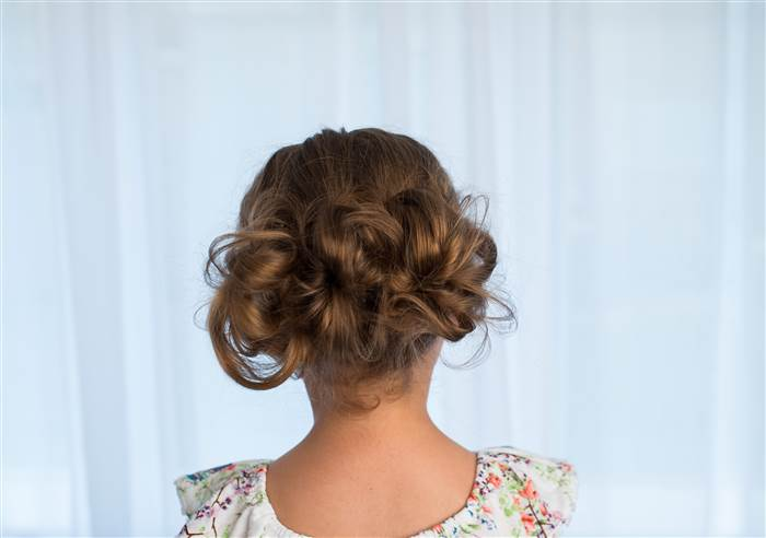 Low Updo Little Girl Hairstyle