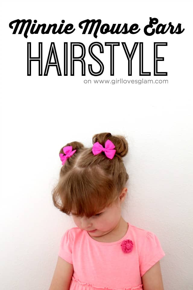 Minnie Mouse Little Girl Hairstyle on www.girllovesglam.com