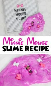 Minnie Mouse Slime Recipe on www.girllovesglam.com