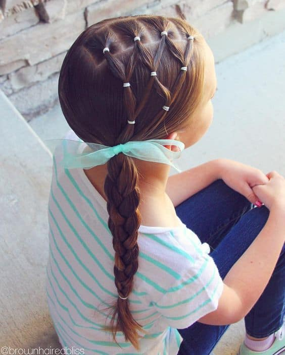 Netted Side Braid for Little Girls