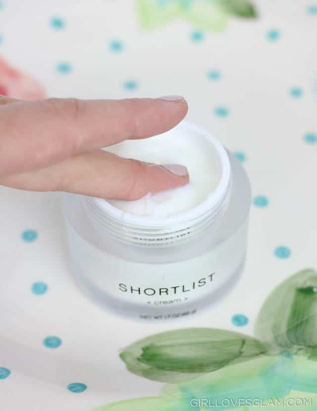 Shortlist Skincare Cream on www.girllovesglam.com