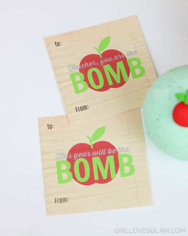 Teacher Gift Tags on www.girllovesglam.com #teachergift #teacherappreciation