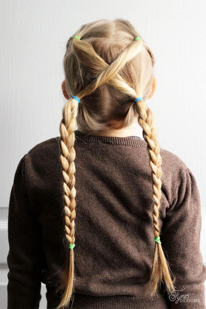 Twisted Braided Pigtails for Little Girls