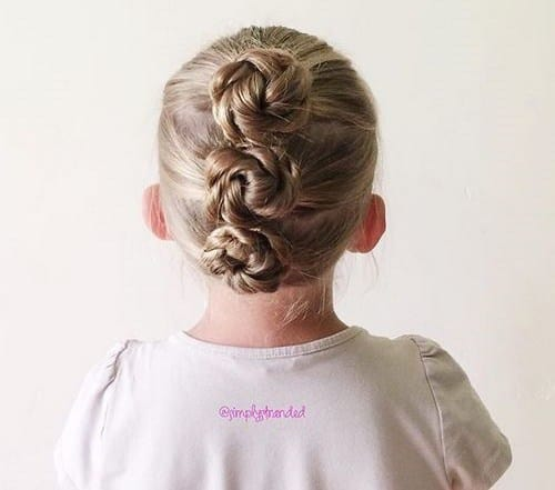 Rope Twist Buns Little girl Hairstyle