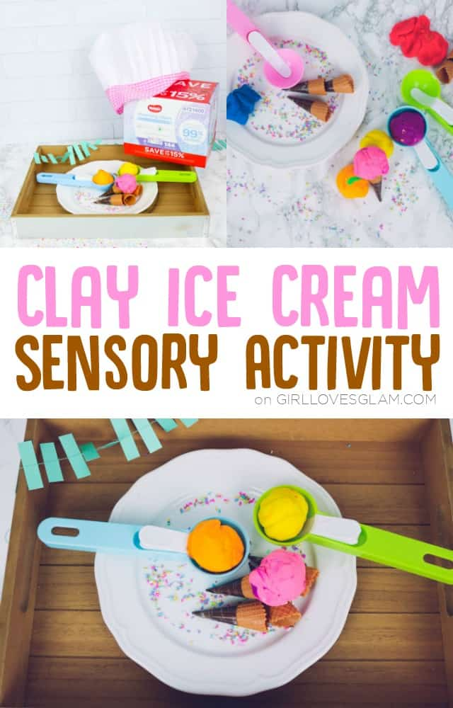 Clay Ice Cream Sensory Activity on www.girllovesglam.com
