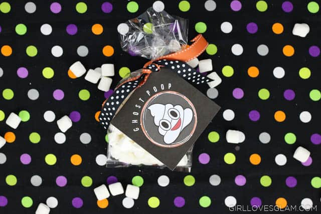 Poop Emoji Halloween Goodie Bags on www.girllovesglam.com