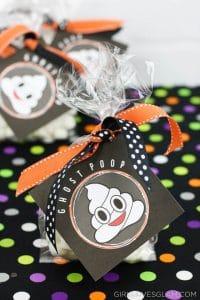 Poop Emoji Ghost Poop Halloween Treat on www.girllovesglam.com