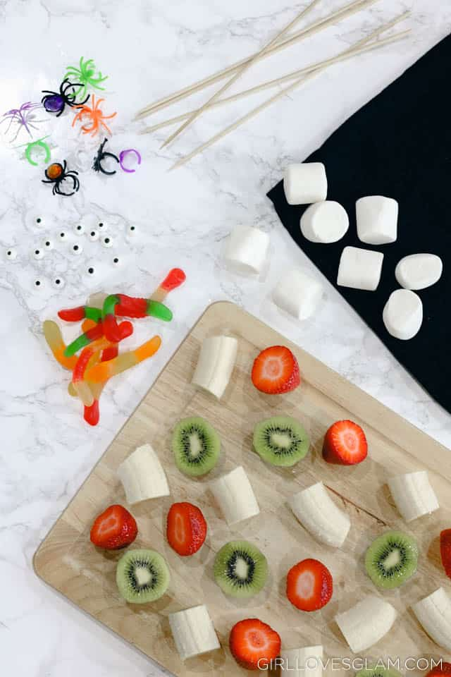 Halloween Food Idea Halloween Skewers on www.girllovesglam.com