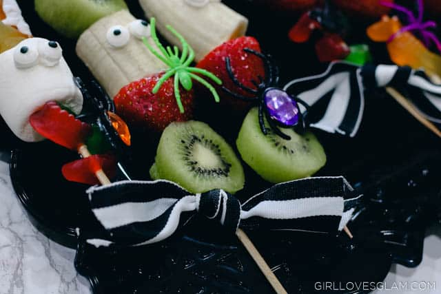 Halloween Skewer Recipe on www.girllovesglam.com