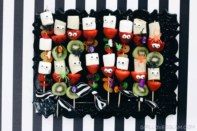 Halloween Skewers Recipe Idea on www.girllovesglam.com