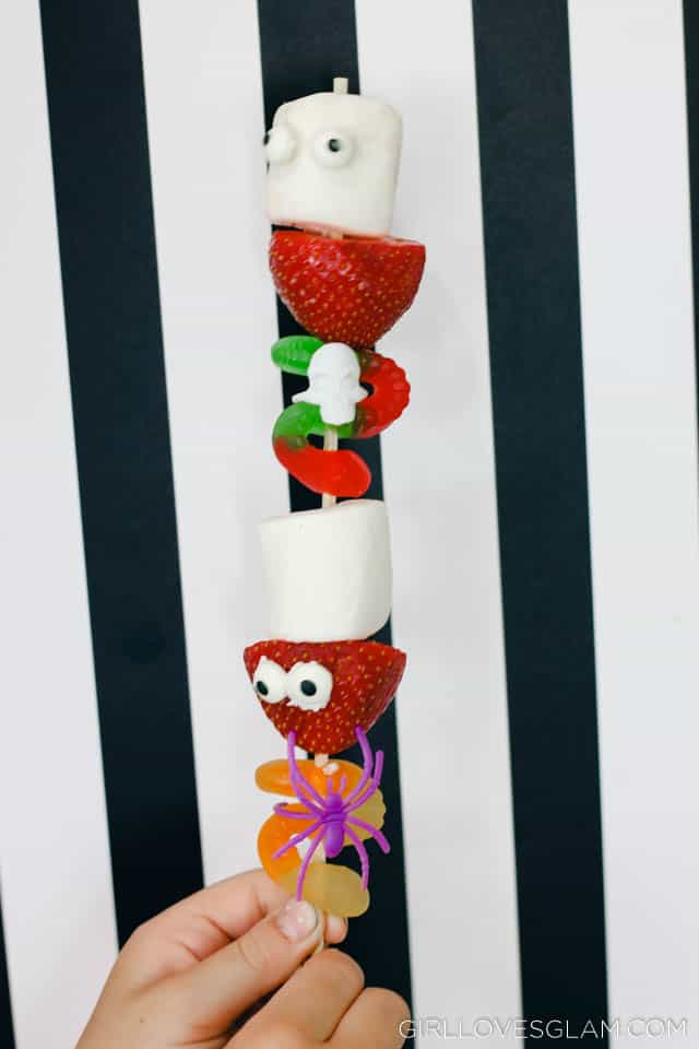 Halloween Candy Skewers on www.girllovesglam.com