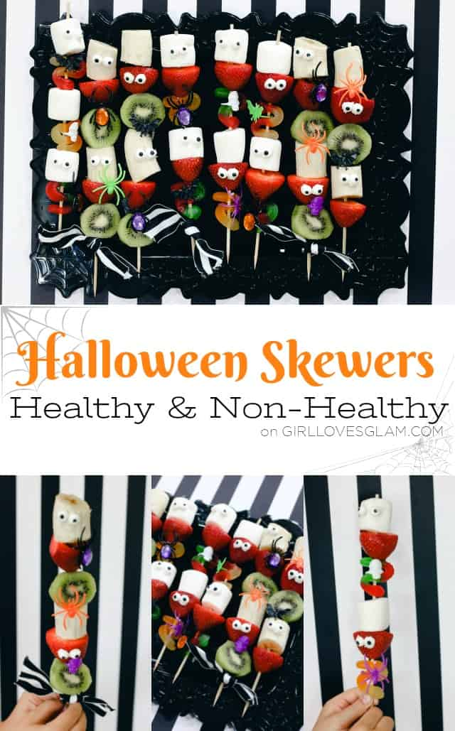 Halloween Skewers Healthy and Non-Healthy Options on www.girllovesglam.com