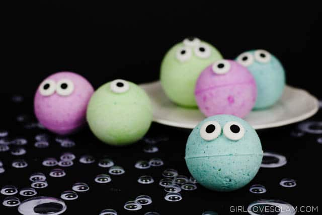 Monster Bath Bombs for Kids on www.girllovesglam.com